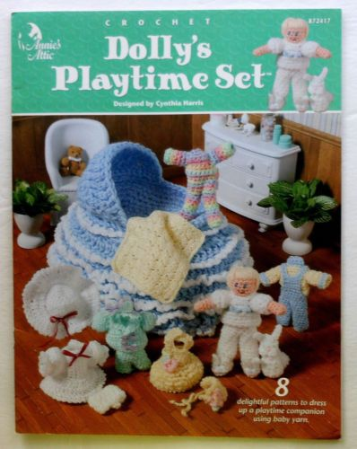 Doll, Clothes, and Bassinet Purse Crochet Pattern Booklet
