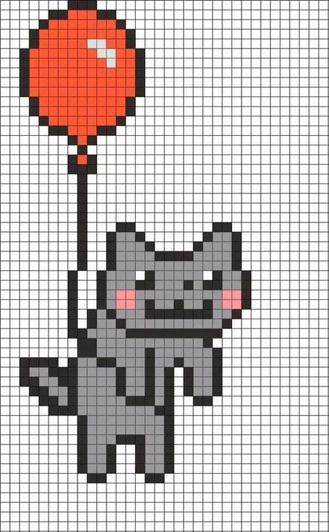 Risunki Po Kletochkam 19 Tys Izobrazhenij Najdeno V Yandeks Kartinkah Pixel Art Grid Easy Pixel Art Pixel Art Templates