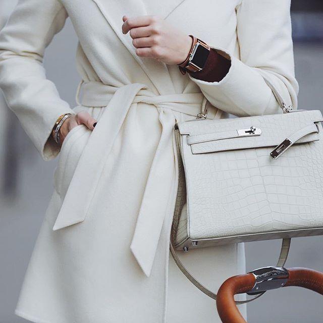 Photo of Classic Genuine Alligator Leather Padlock Shoulder Handbag