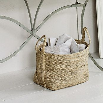 Buy Bathroom Bathroom Accessories Jute Storage Bag From The White