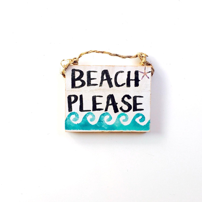Plaque Murale Signe Handmade Reclaimed palette Seaside Thème A4 Taille Beach Hut
