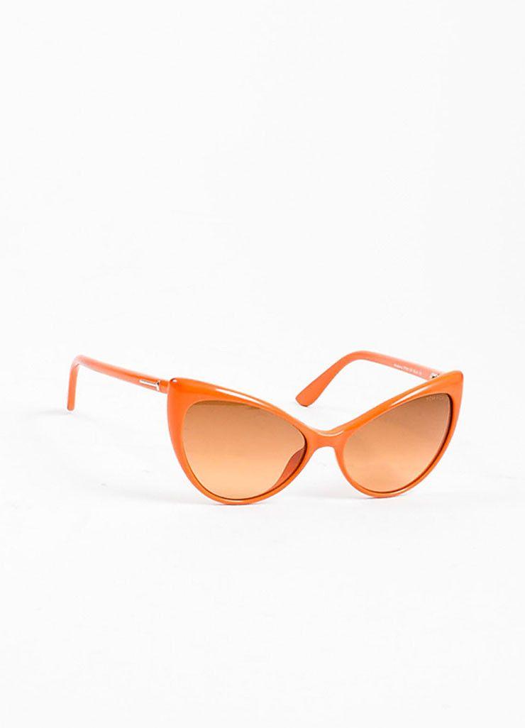 35d857e7d854 Orange Tom Ford Acetate Gradient Tint Cat Eye