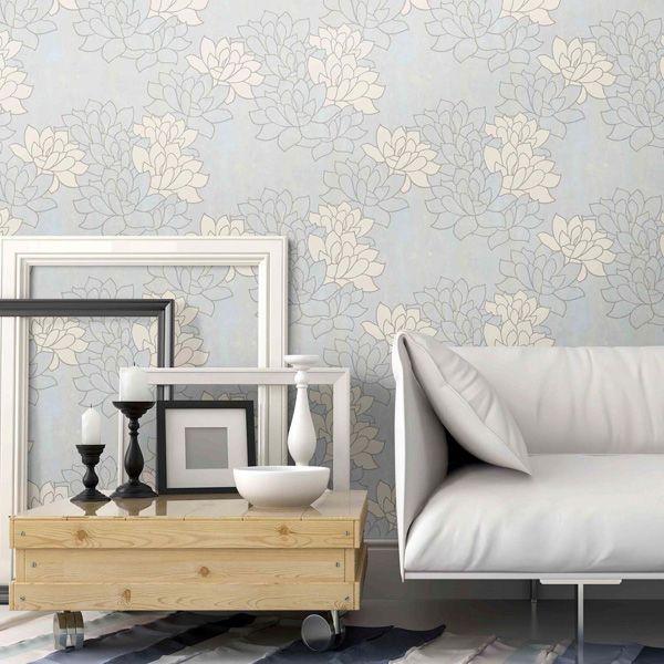 papel pintado flores grandes para decoración de paredes en la tienda