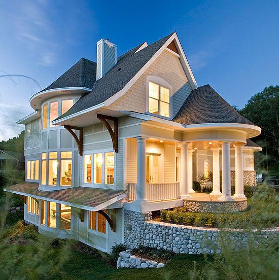 Plan 20094ga Unique Home Plan With Photos House Plans Beautiful Homes Architecture