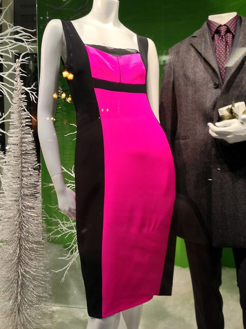 Hot pink Christmas! Narciso Rodriguez blocks the right color for this season.