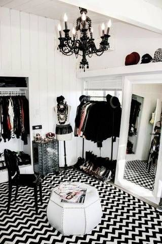 Turn Room Into Walk In Closet Black And White Dressing