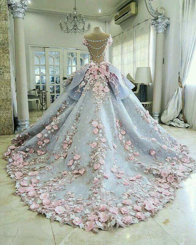 Luxury wedding gowns with florals,See more on http://www.JDsBridal ...