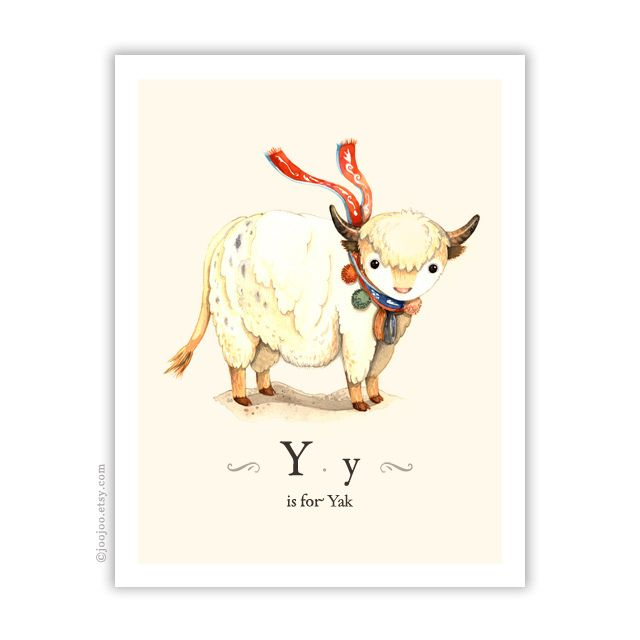 Y is for Yak by {JooJoo}, via Flickr