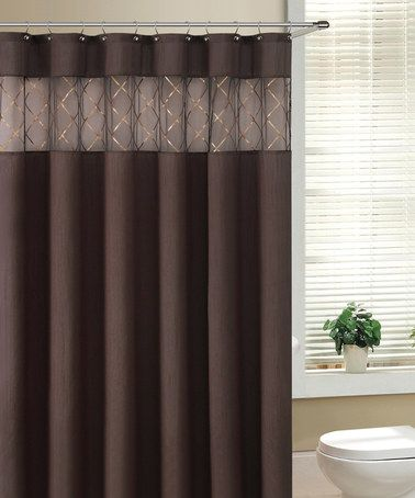 Take A Look At This Chocolate Fame Shower Curtain By Victoria Classics On Zulily Today