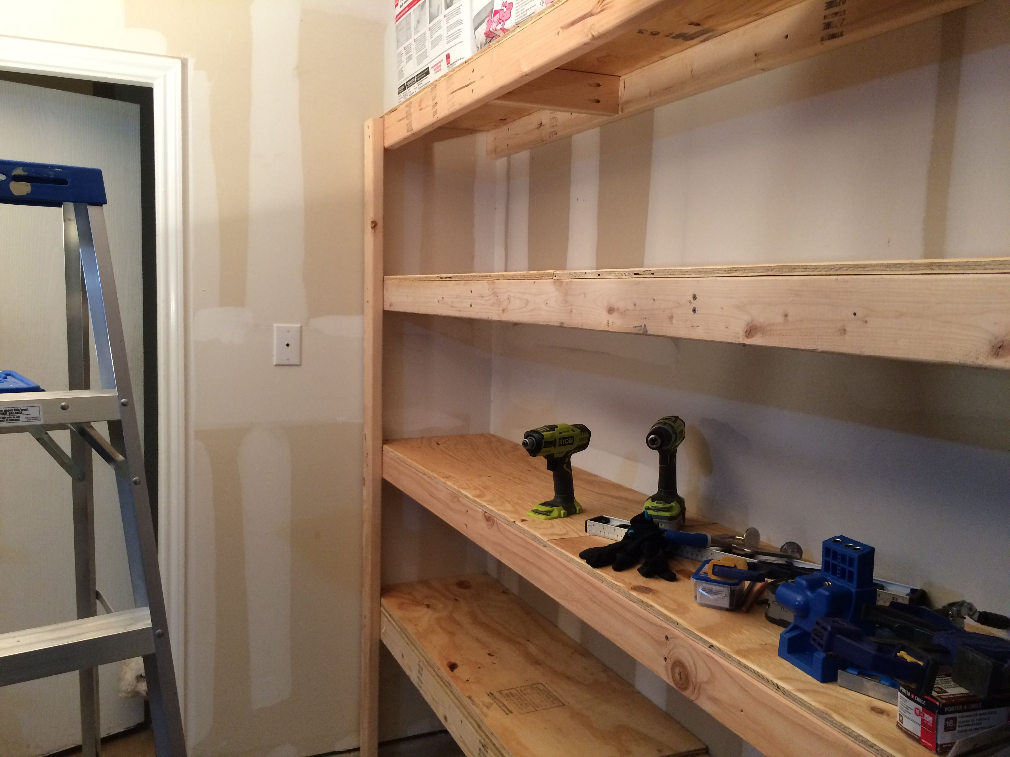 Best Diy Garage Shelves Attached To Walls With Images Garage