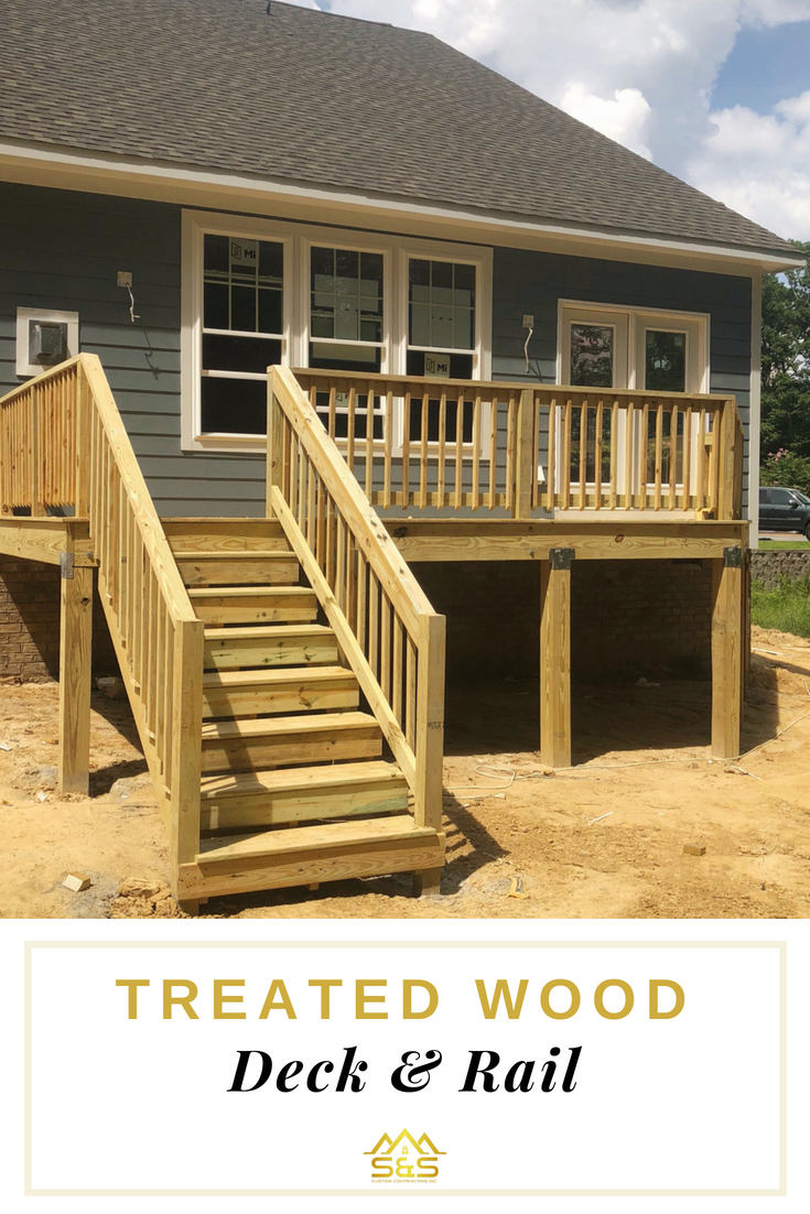 A Treated Wood Deck Can Be An Affordable And Durable Option For Homeimprovement