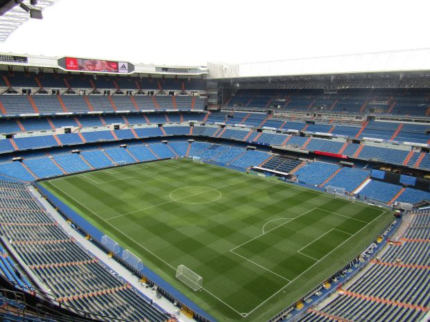 Real Madrid stadium in 2020 | Madrid, Spanje, Stad