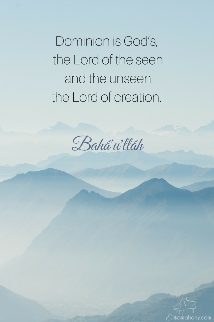 Dominion Is Gods New Video Bahai Inspiration Spirituality