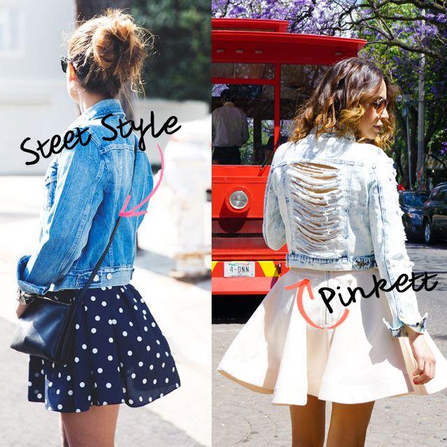 Denim jacket y falda midi, no hay look mas girly que esto!!! #everydaywearstyle #bypinkett #streetstyle