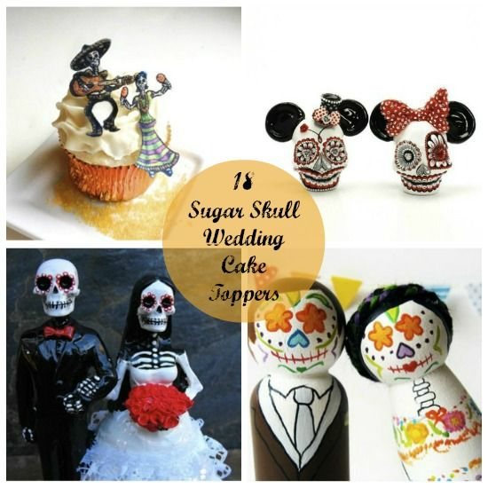 18 Sugar Skull Wedding Cake Toppers   Skull wedding cakes, Wedding ...