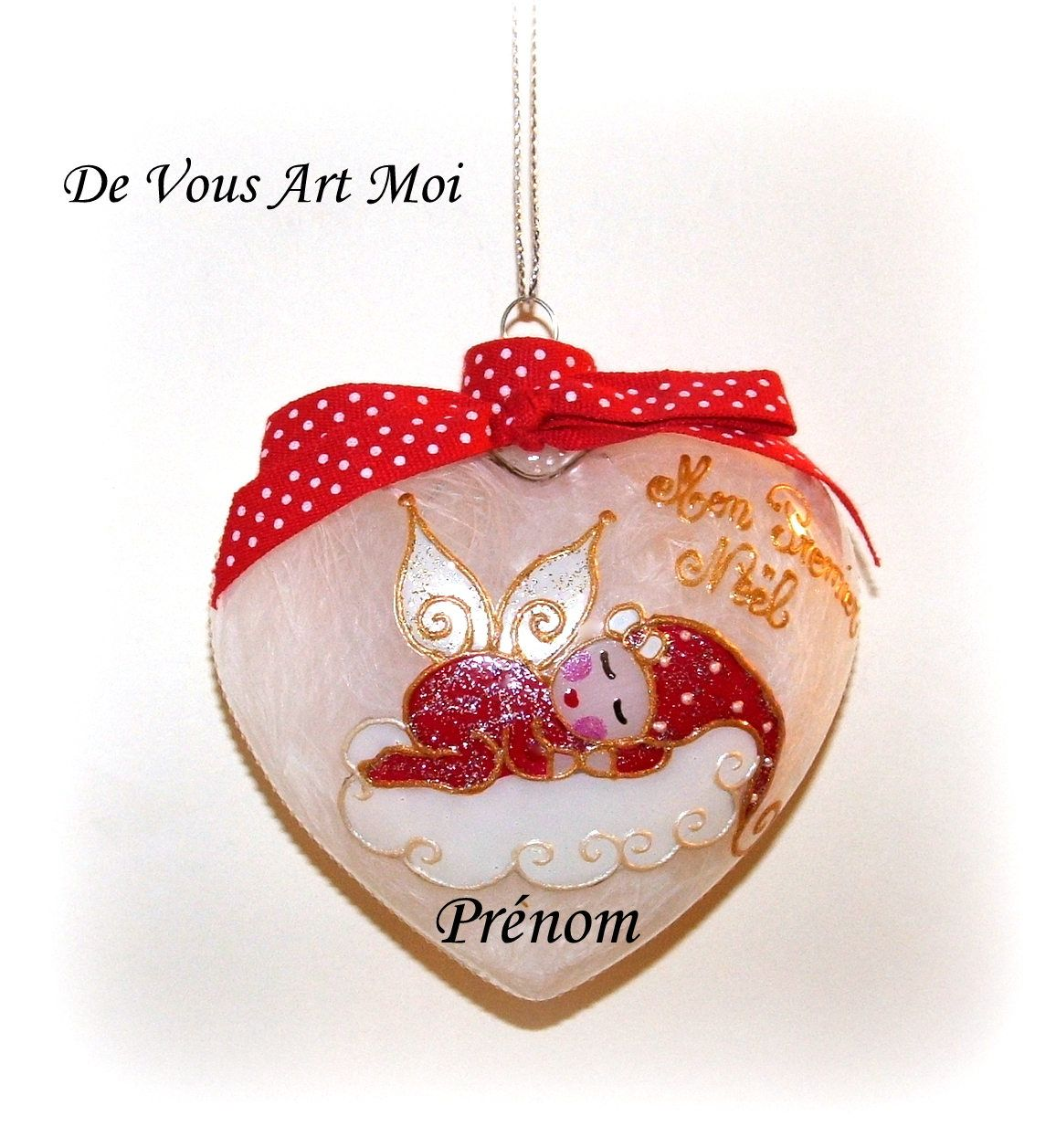Image De Noel Fille.Boule Mon Premier Noel Personnalisee Bebe De Noel Cœur En