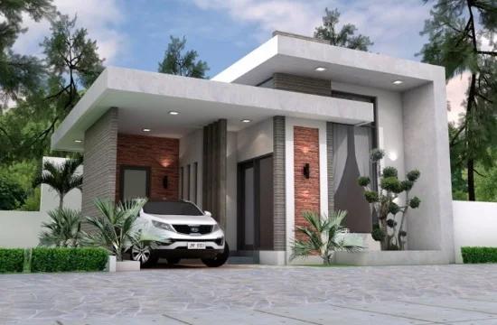 14 Desain Rumah Modern 2020 Dengan Atap Datar Rumah Modern Desain Rumah Modern Desain Rumah