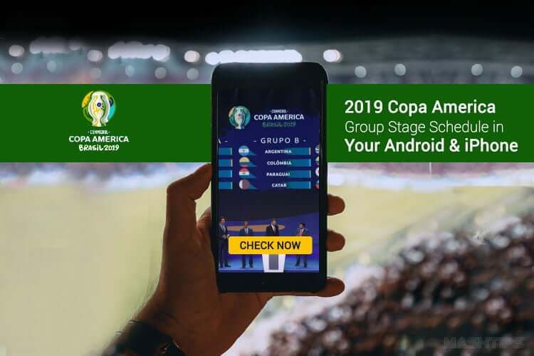 Get 2019 Copa America Group Stage Schedule in Android
