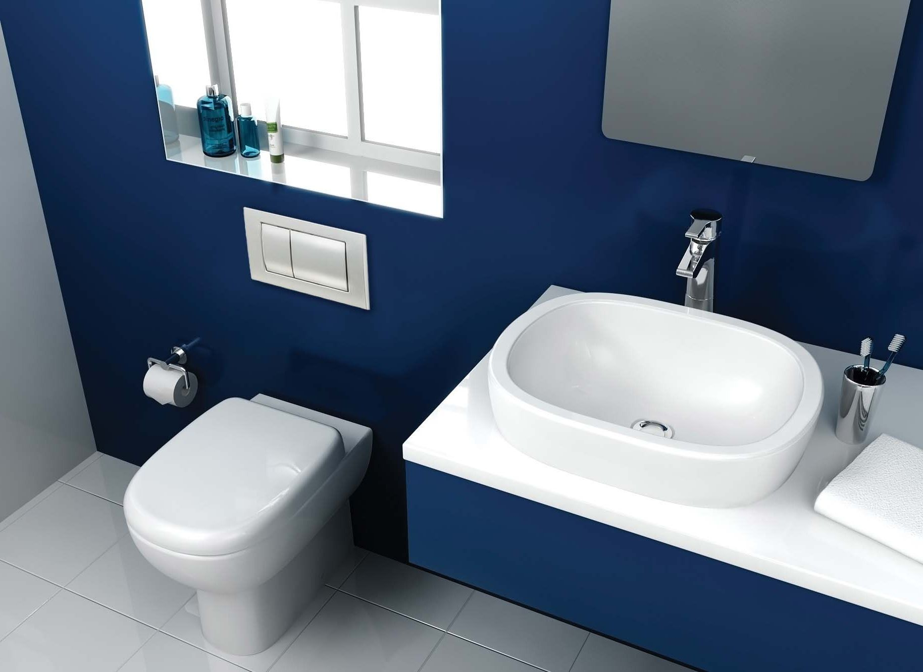 interior paint color ideas blue bathroom paint decorating - Bathroom Decorating Ideas Blue Walls