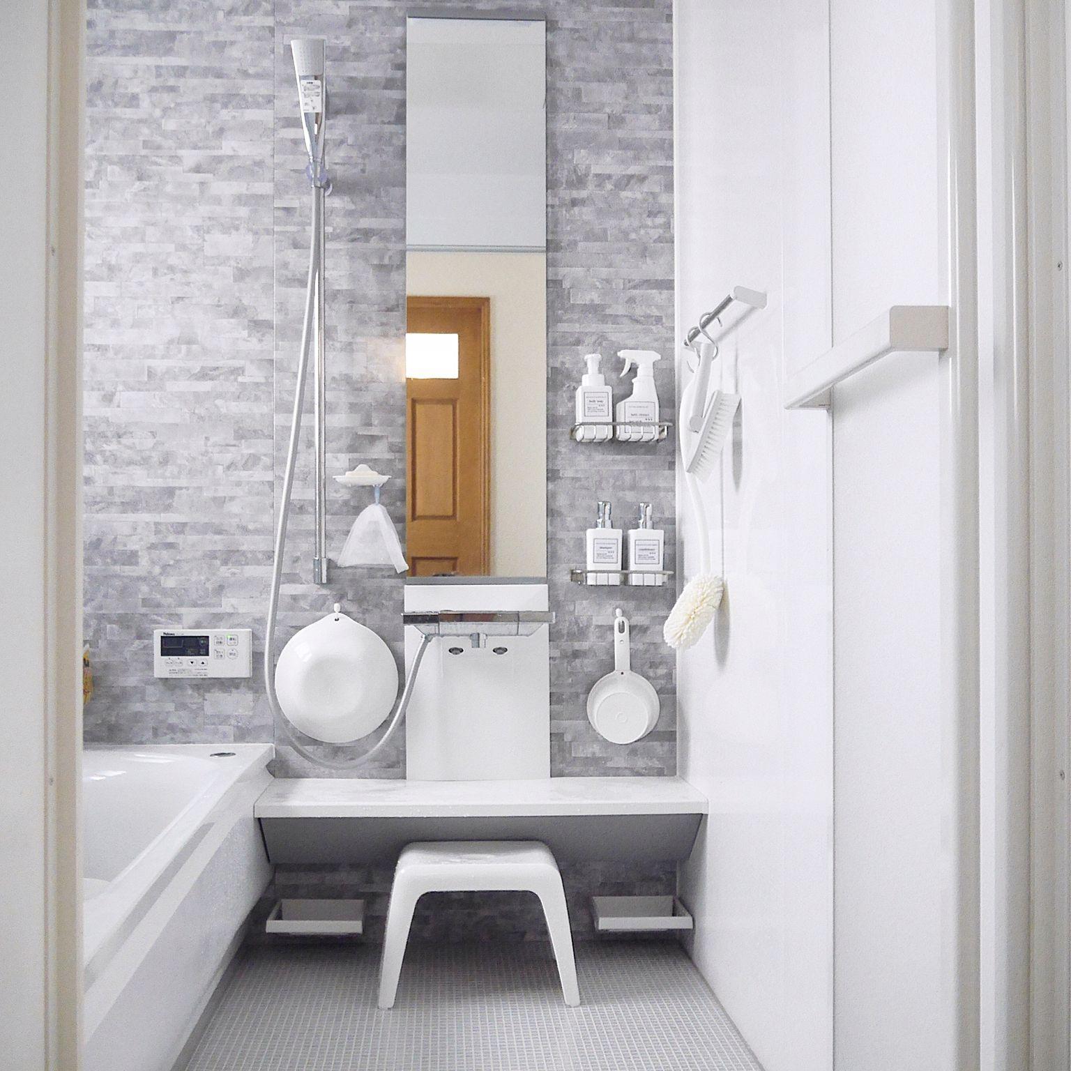 Bathroom/無印良品/ダイソー/インテリア/100均/お風呂.