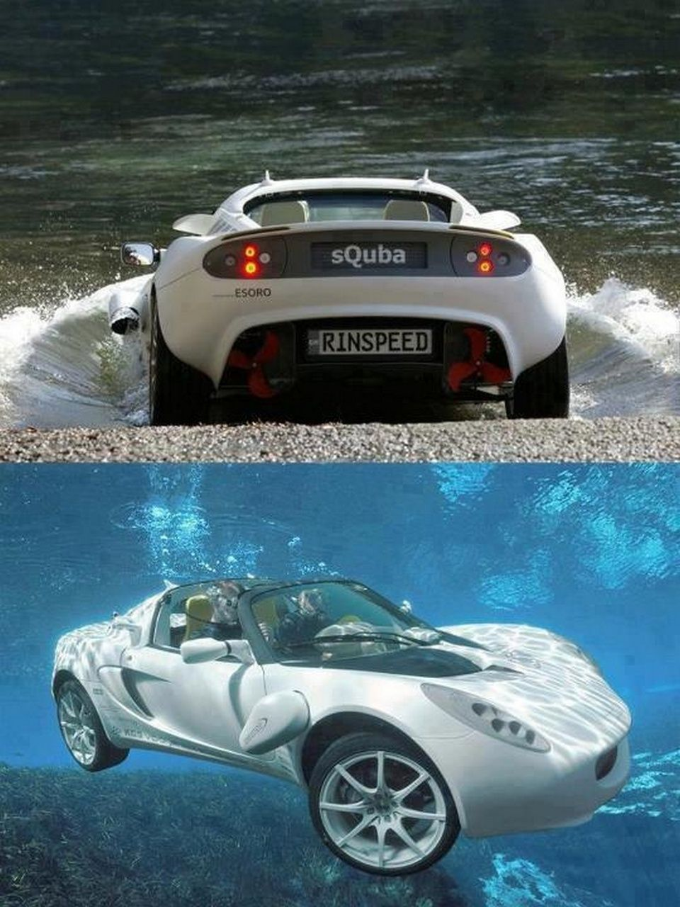 World First Underwater Car. The sQuba, developed by Swiss company ...