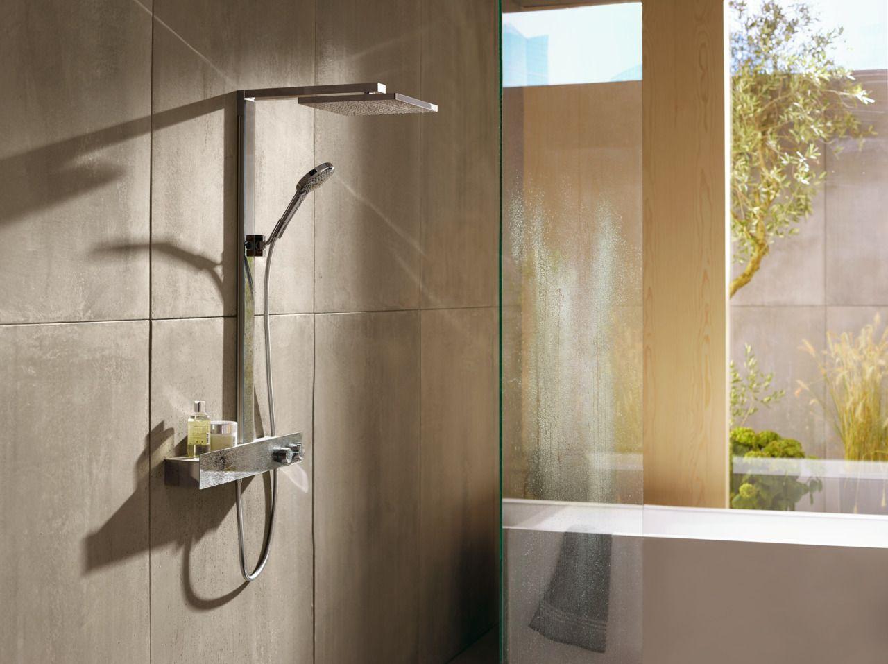 Modern bathroom: hansgrohe Raindance E, with its modern design, goes ...