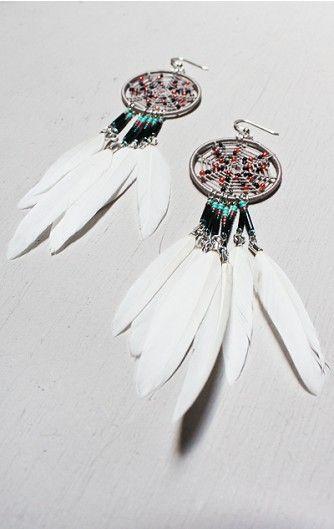 phoenix dreamcatcher earrings