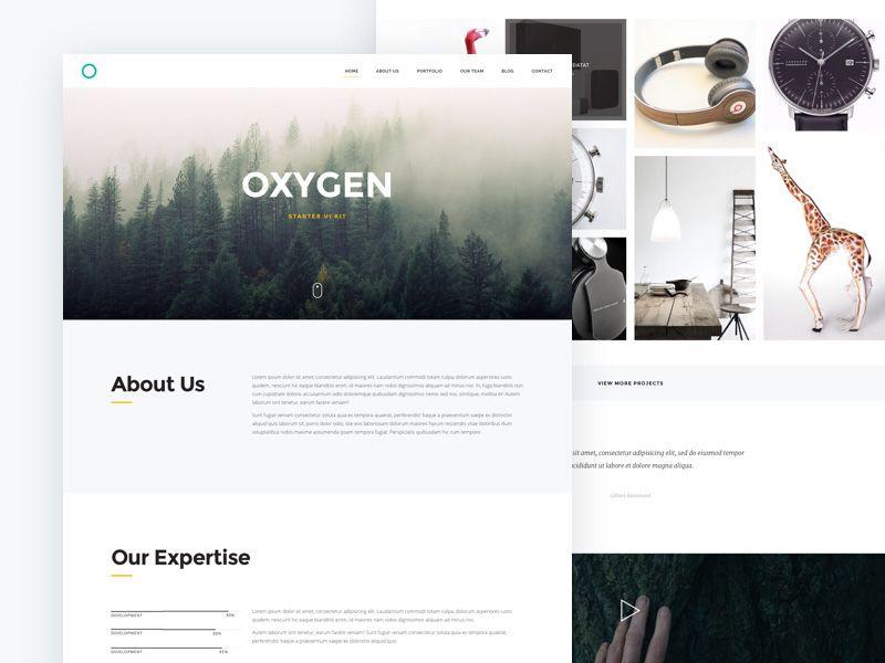 Oxygen Web Starter Kit Free Sketch App Resources Pinterest Web