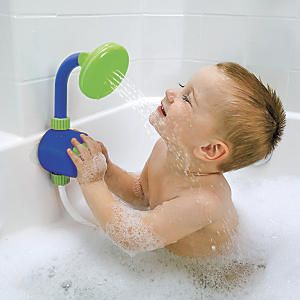 Shower Head Bath Toy, recycles bath water so the faucet isn\'t ...