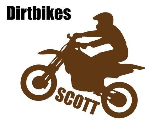 Custom Boy S Dirtbikes Silhouette Wall Graphic Free Shipping