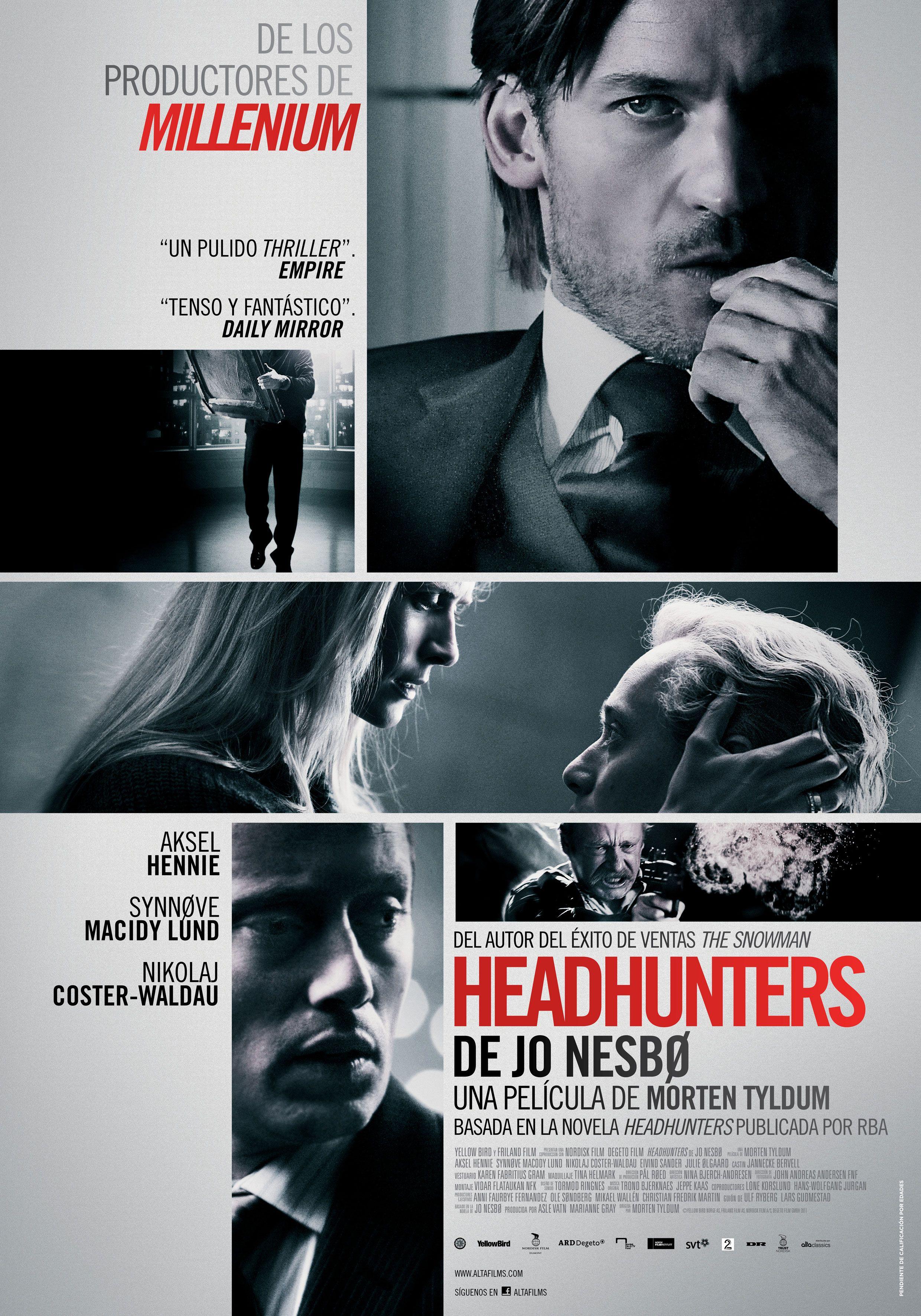 Cartel de \'Headhunters\'   Headhunters   Pinterest   Aksel hennie