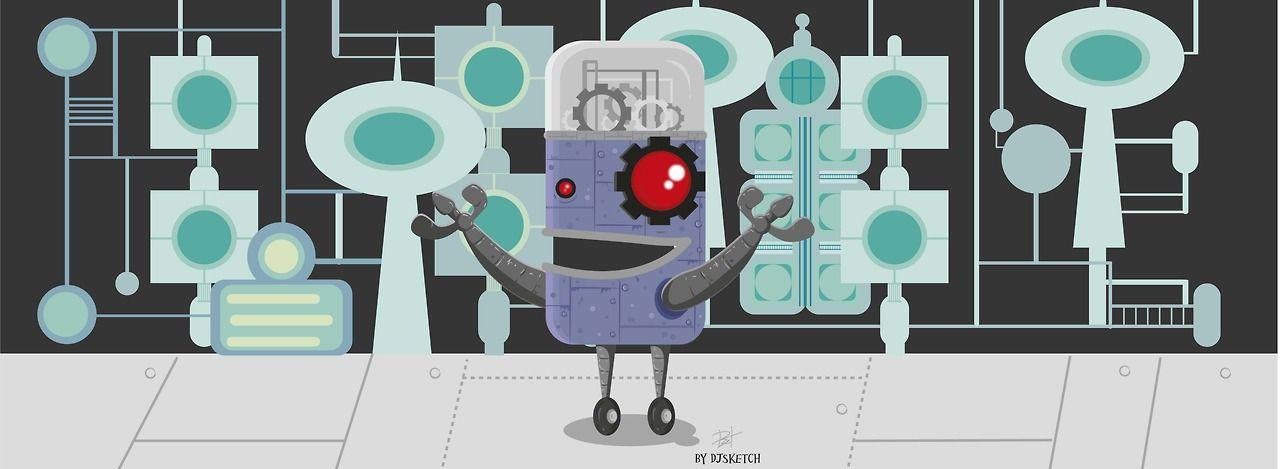 El laboratorio de Dexter, lo recuerdan? #illustration #ilustracion #queretaro #vectores #robot