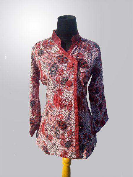 Model Baju Batik Lengan Panjang Wanita Wanita Desain Blus