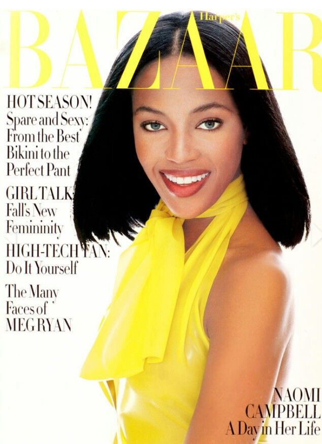 MODEL-NAOMI CAMPBELL HARPER'S BAZAAR-JUNE,1994 COVER