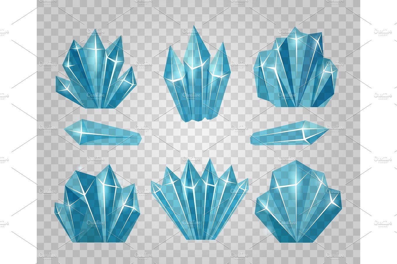 Ice Crystals Isolated On Transparent Background Crystal Drawing Crystal Illustration Ice Drawing
