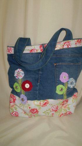 diseño de calidad 2fc7e b63bc Carteras Hechas Con Jeans Reciclados - $ 650,00 | ropa ...