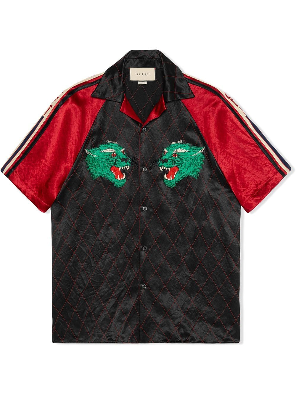 Gucci Panther Bowling Shirt Farfetch Bowling Shirts Shirts Minimalist Fashion Men [ 1334 x 1000 Pixel ]