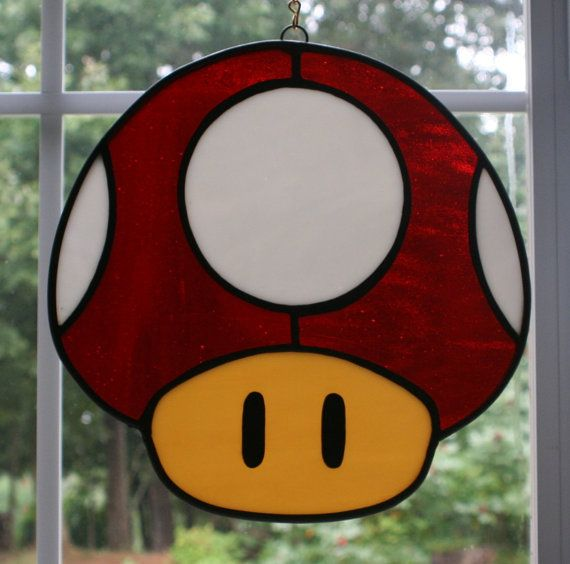 Power up Mushroom Blue  Green  Red  Pink by MartianGlasswork, $55.00