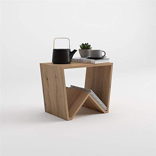 gelb 50 cm x 50 cm x 45 cm Sim Luxury Moderner runder Couchtisch Arbeitszimmer Beistelltisch mit Holzbeinen f/ür Wohnzimmer