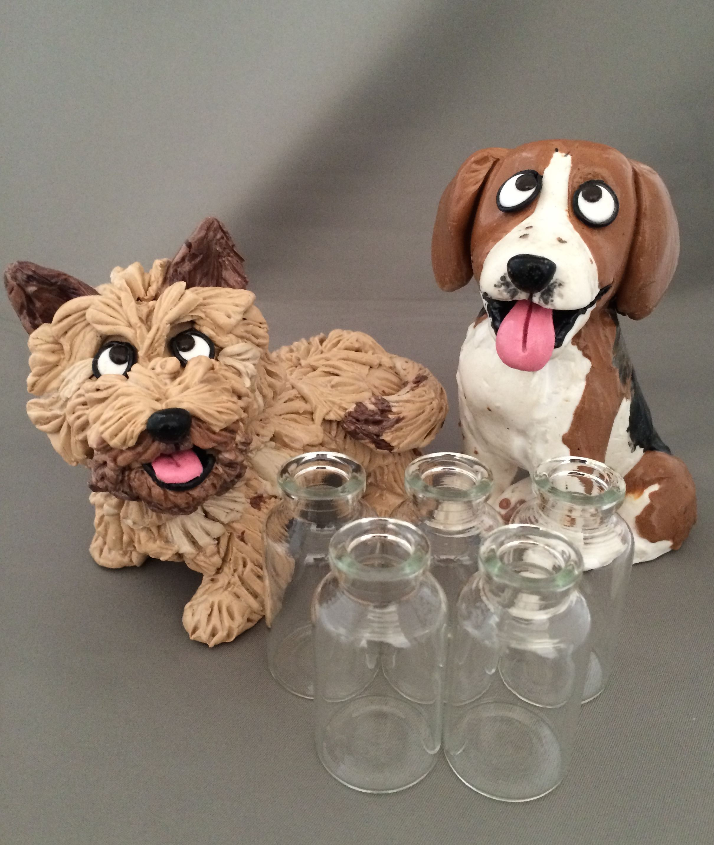 What makes these dogs Hounds of Hope? It's the bottle