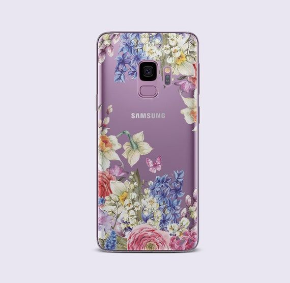 Flower iPhone X Case Purple Flowers Samsung Galaxy S8 Case | Etsy