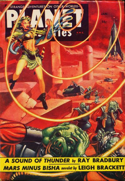V6 4 1954 Cover Art Sci Fi Science Fiction Magazines