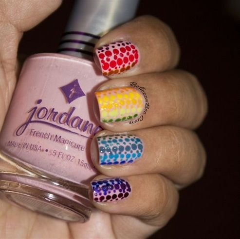Rainbow Dot Gradient by naomihing - Nail Art Gallery nailartgallery.nailsmag.com by Nails Magazine www.nailsmag.com #nailart