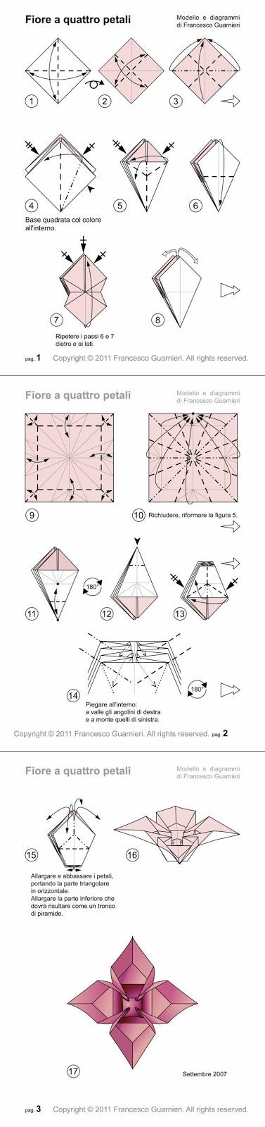 Origami diagrammi fiore a quattro petali flower with 4 petals by origami diagrammi fiore a quattro petali flower with 4 petals by francesco guarnieri mightylinksfo Images