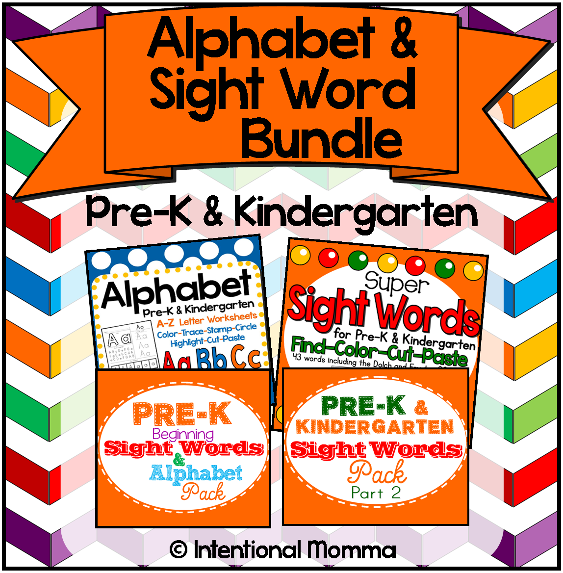 Alphabet And Sight Word Printable Bundle Great For All