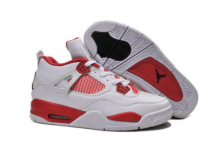 Authentic Cheap Air Jordan 4 Original red white shoe for sale Authentic  Cheap Air Jordans retro