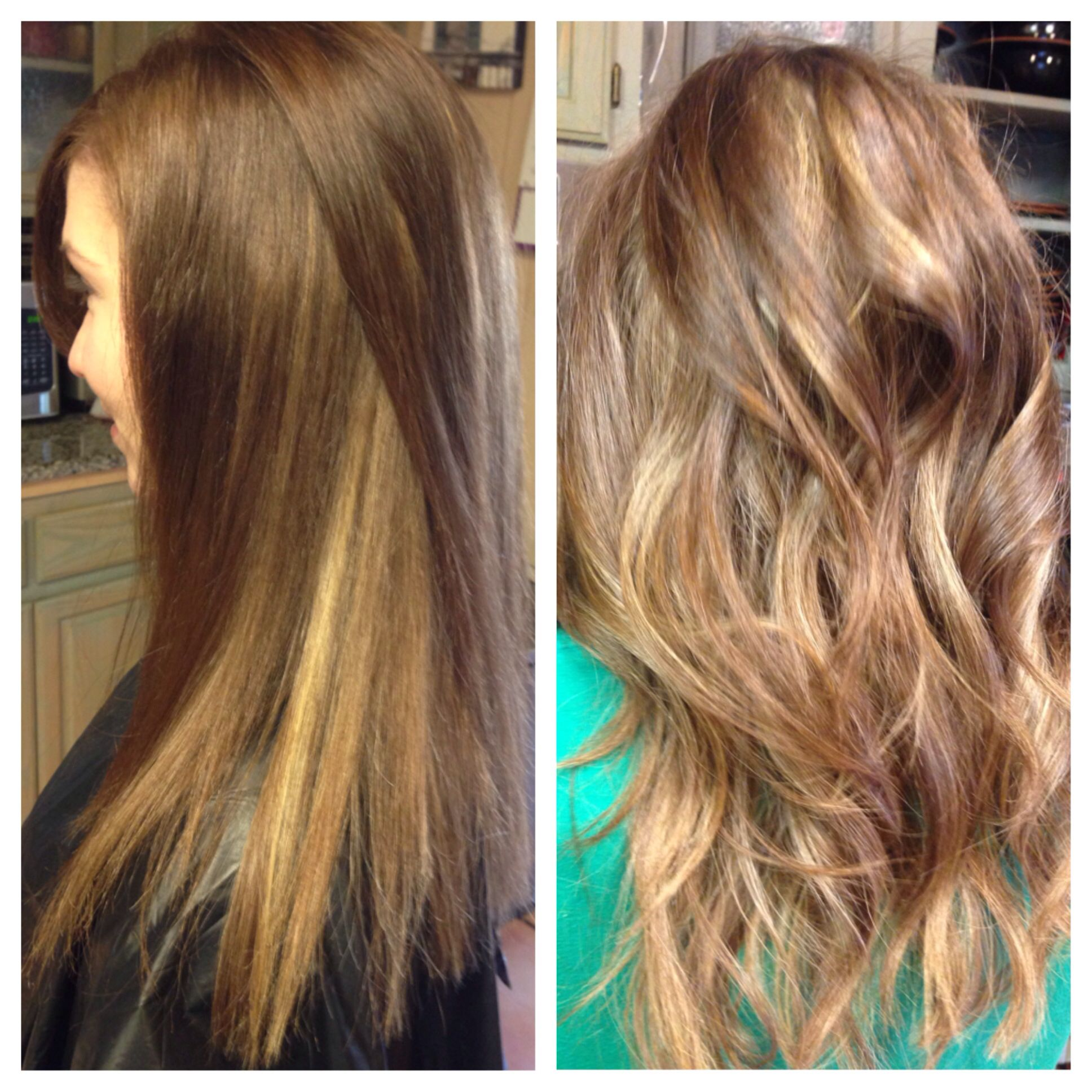 Peekaboo Highlights On Light Brown Hair Light Brown Hair