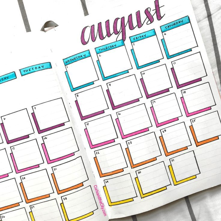 Photo of August Bullet Journal – Curls and the City