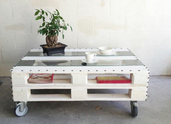 La table basse design en mille et une photos avec beaucoup - Faire table basse en palette ...