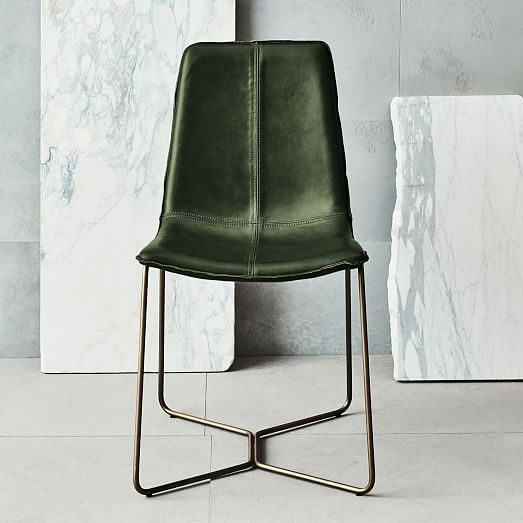 Slope Leather Dining Chair  Dining Chairs Apartments And Magnificent Green Leather Dining Room Chairs Inspiration